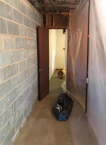 Buckeystown, MD Basement Waterproofing - Before Photo