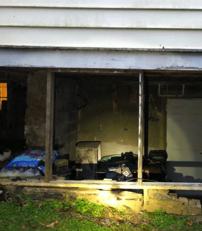 Eckhart Mines, MD Home Settlement Repair - Before Photo