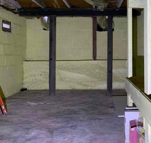 Middletown, MD Sagging Floor Repair - Before Photo