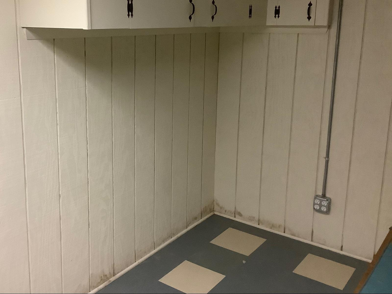 Staunton, VA Basement Waterproofing & Bowing Wall - Before Photo