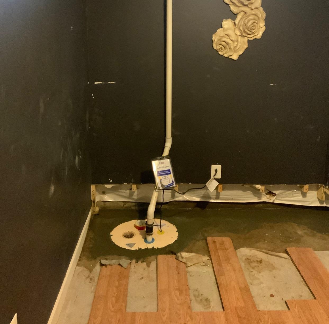 Manassas, VA Basement Waterproofing - After Photo