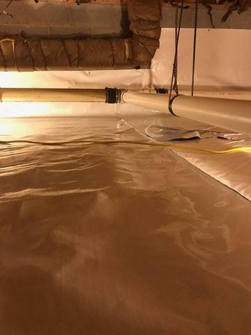 Fincastle, VA Basement Waterproofing - After Photo