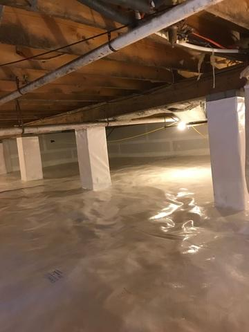 Harrisonburg, VA Crawlspace Waterproofing