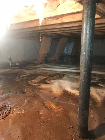 Penhook, VA Crawlspace Encapsulation and Waterproofing