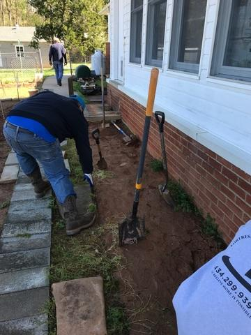 Aroda, VA foundation settlement mitigation with Push Piers