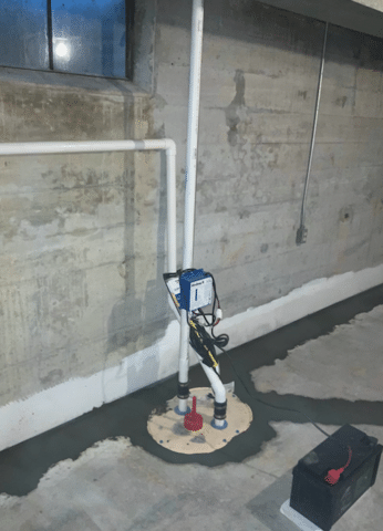 Roanoke, VA Sump Pump Installation - After Photo