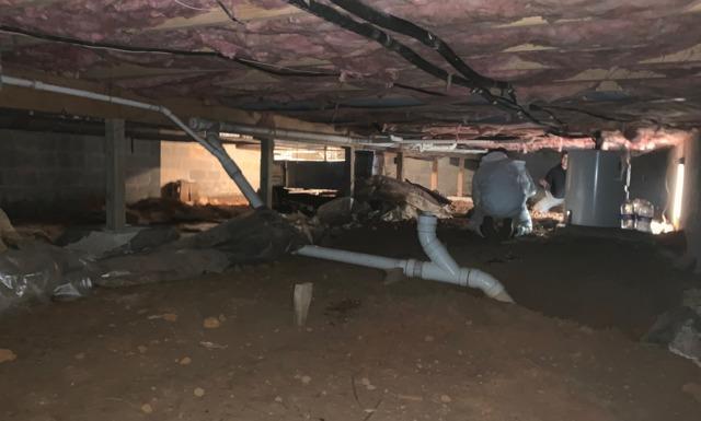 Sagging floors and cracking walls in Crozet VA
