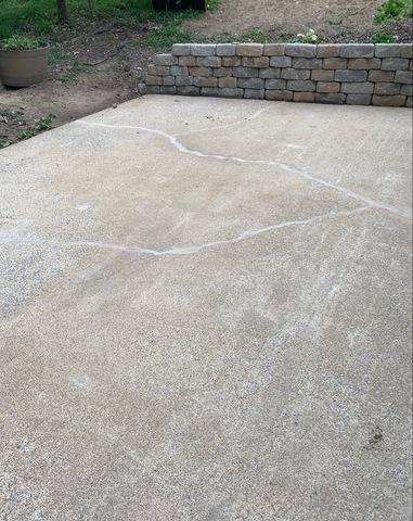 Harrisonburg, VA Patio Crack Repair