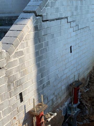 Winchester, VA Push Pier Installation