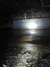 Clarksburg, MD Crawlspace Waterproofing - Before Photo