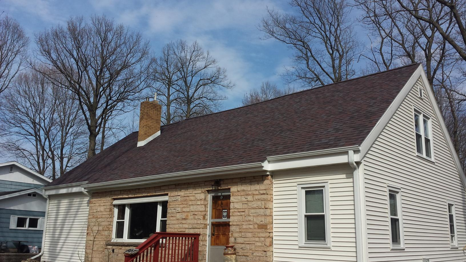 Wausau roof that was raised to provide proper ventilation - After Photo
