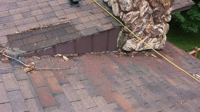 Much needed Roof Replacement & Chimney Flashing  in Weston, WI - Before Photo