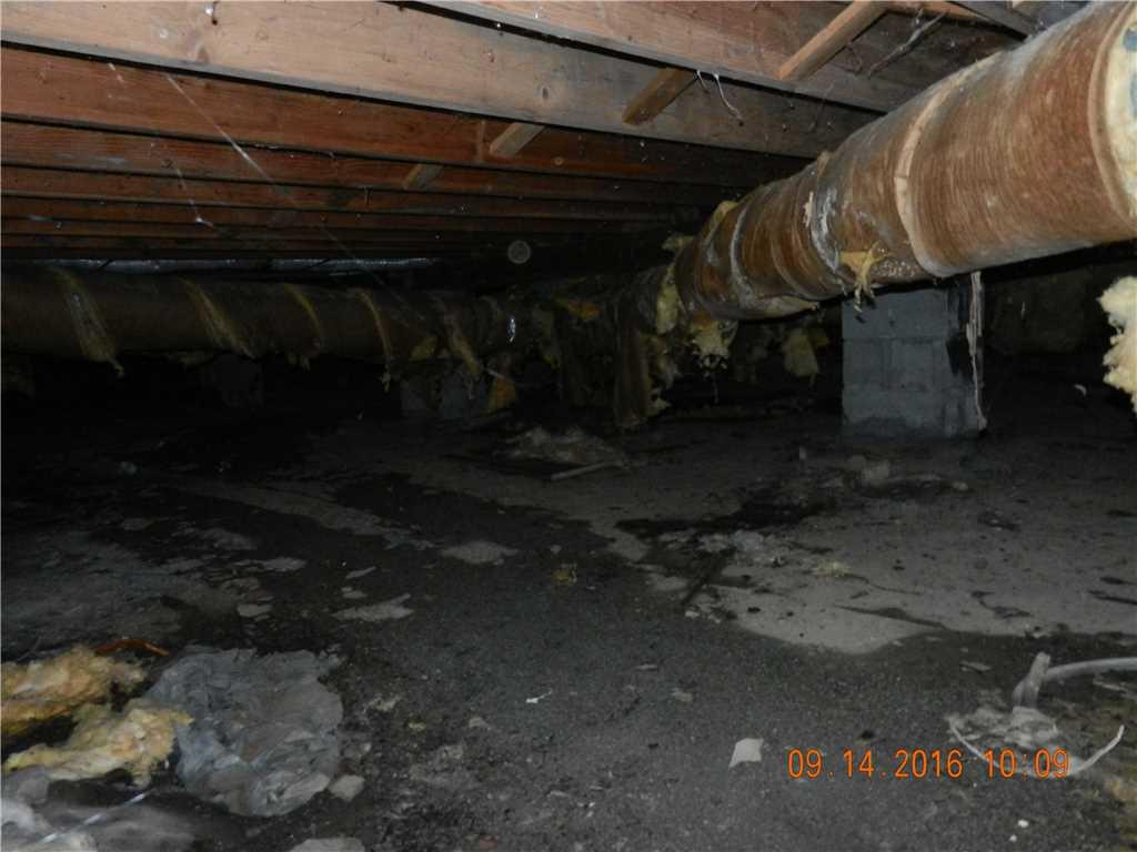 Crawl Space Encapsulation in Ithaca, NY - Before Photo
