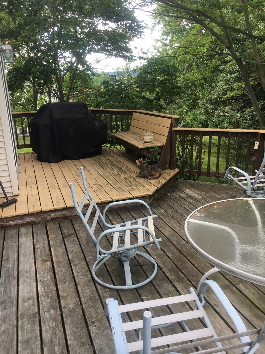 Deck Coating Applied in Camp Hill, PA - Before Photo
