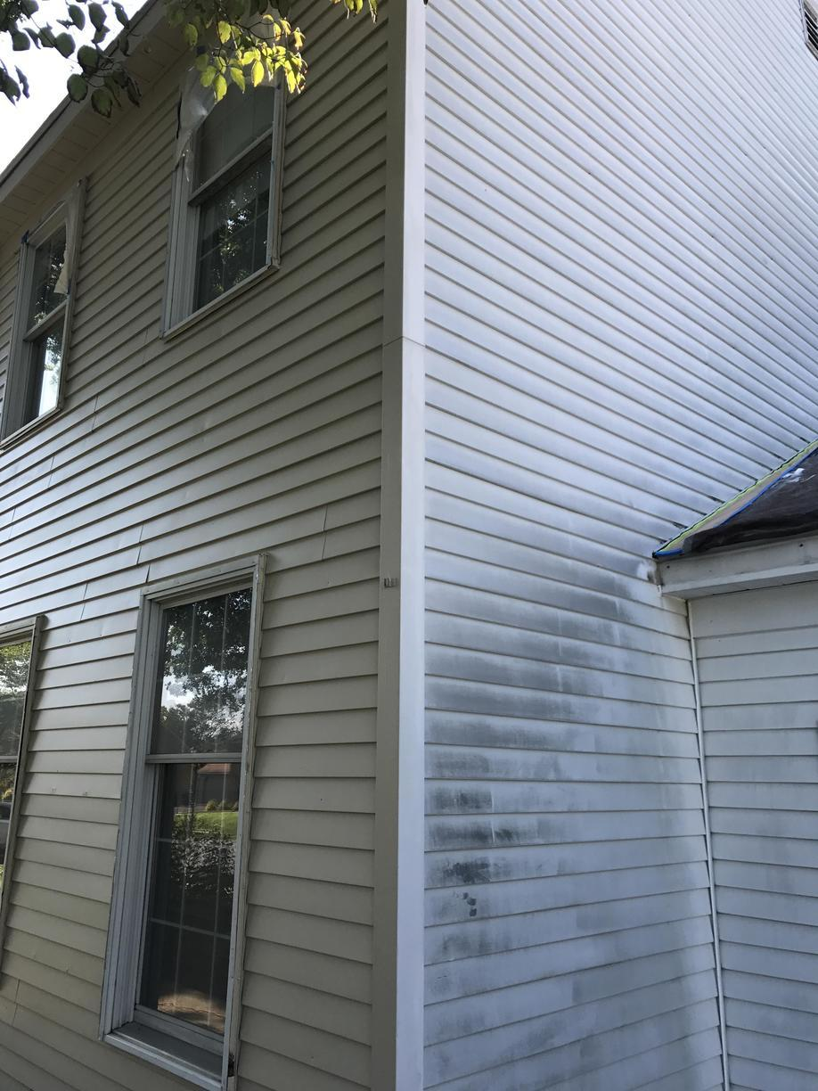 Aluminum Siding Painted in Mechanicsburg, PA - Before Photo