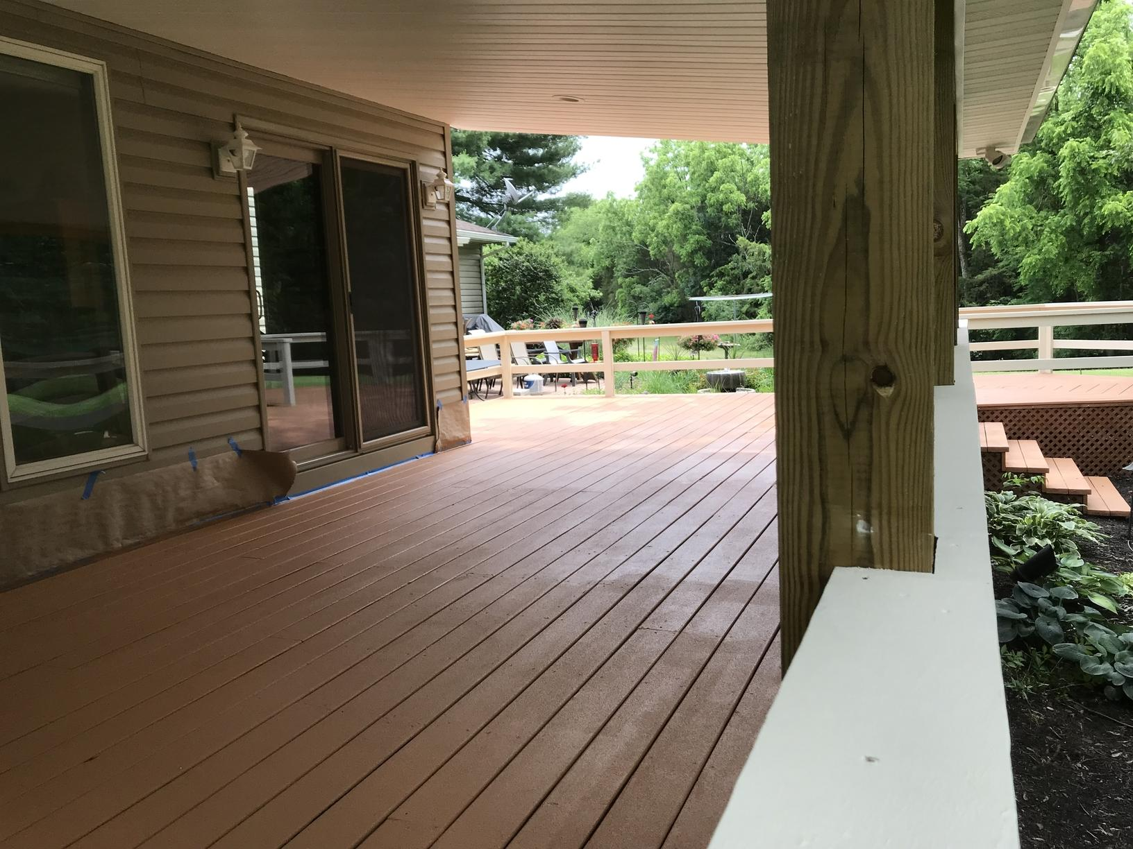 Deck Coating Applied in Gettysburg, PA - After Photo