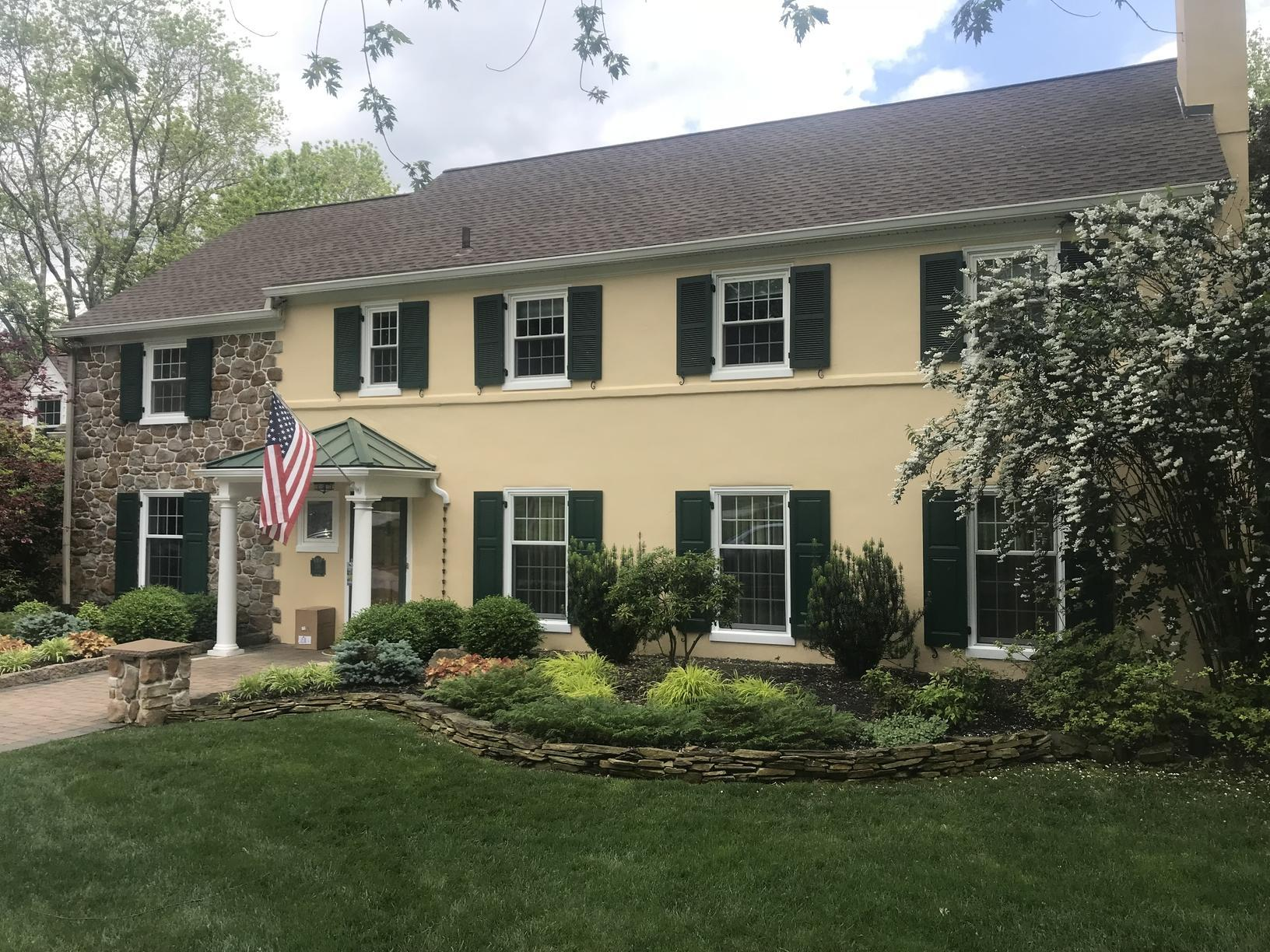 Stucco House Gets Painted with our Ceramic Coating in Newtown Square, PA - After Photo