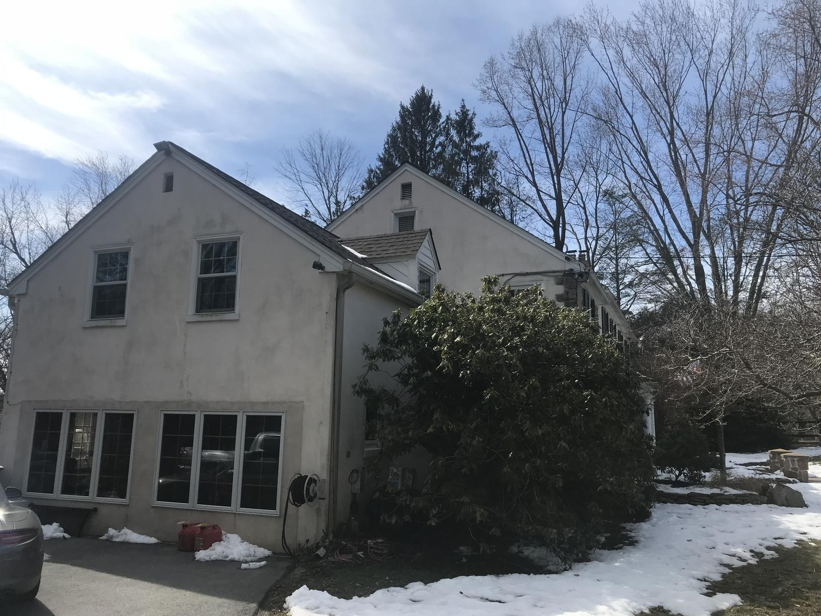 Stucco Sealed with Rhino Shield Primer in Newtown Square, PA - Before Photo