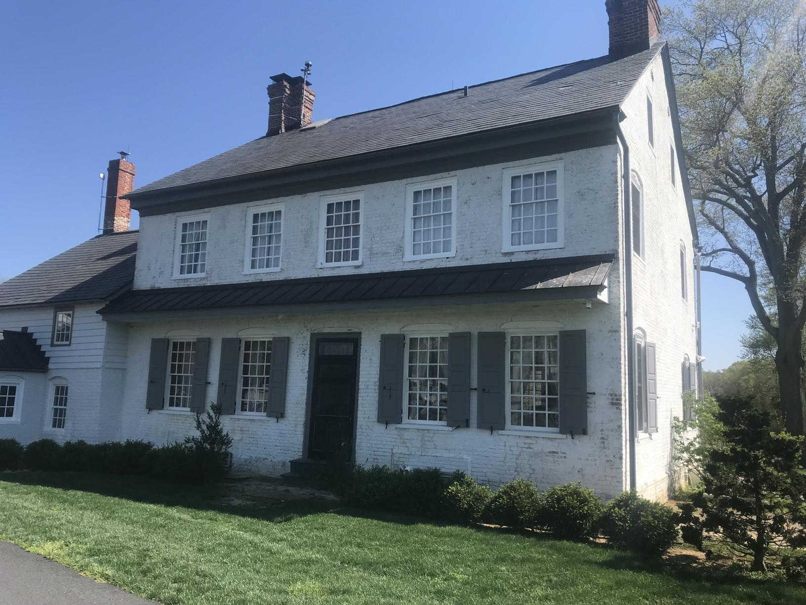 Historic Farm House Painted in Chesapeak City, MD - Before Photo