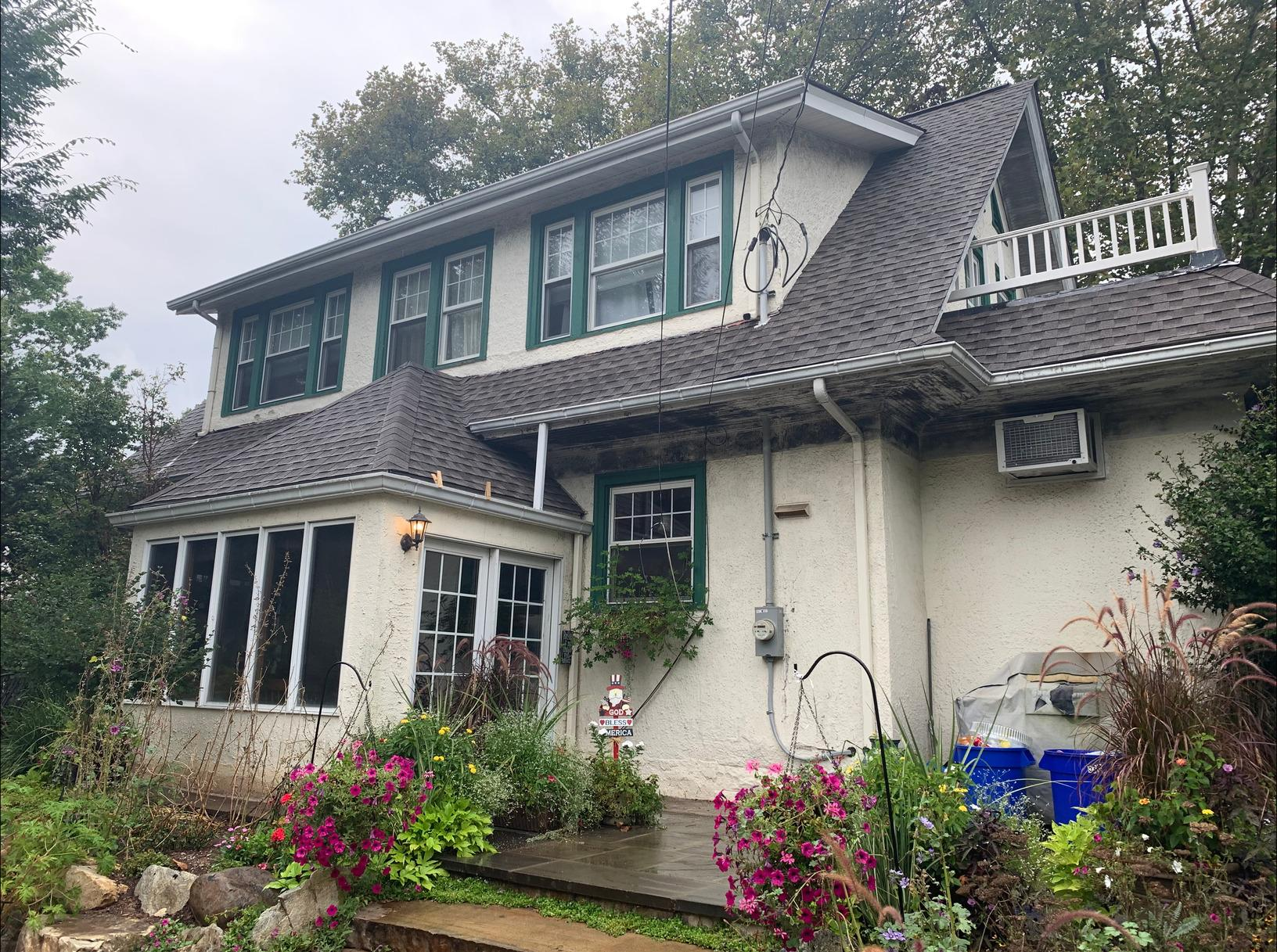 Classic Phoenixville House Painted in Bold Colors - Before Photo