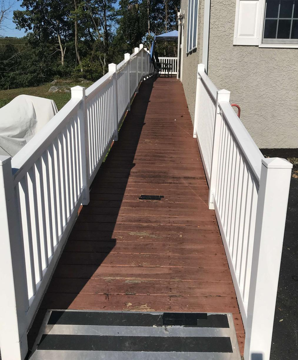Deck Painting with Acryfin in Malvern, PA - Before Photo