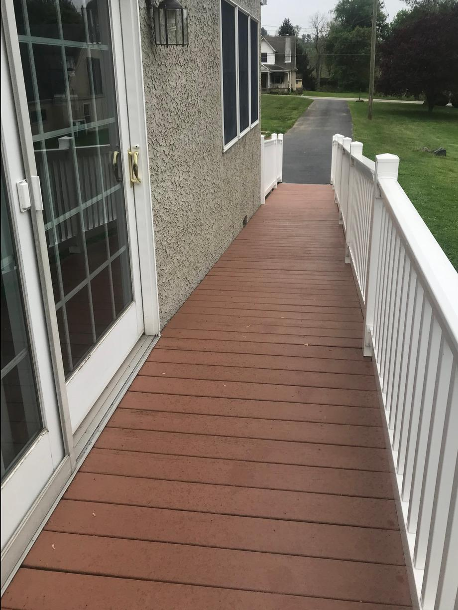 Malvern Deck Painting with Acryfin - After Photo