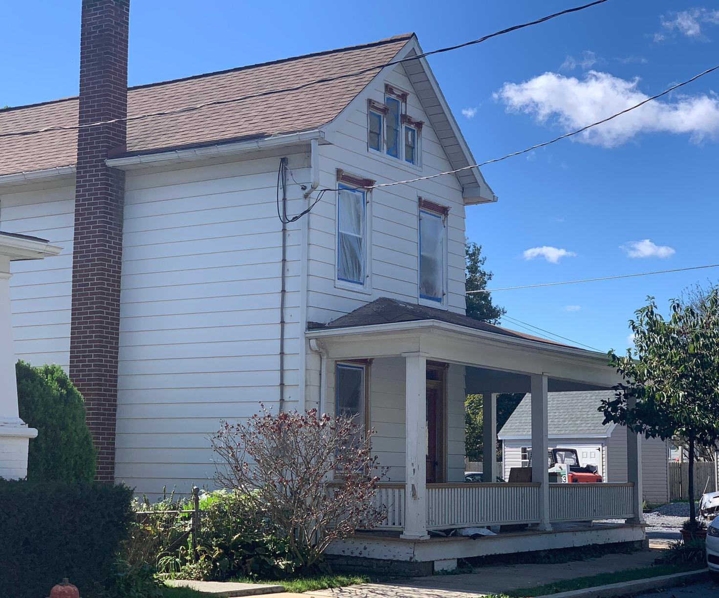 Historic Home Painted with Rhino Shield in Lititz, PA - Before Photo
