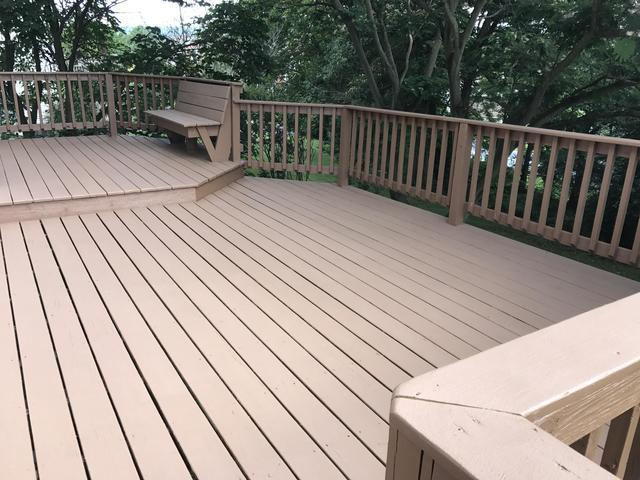 Deck Coating Applied in Camp Hill, PA