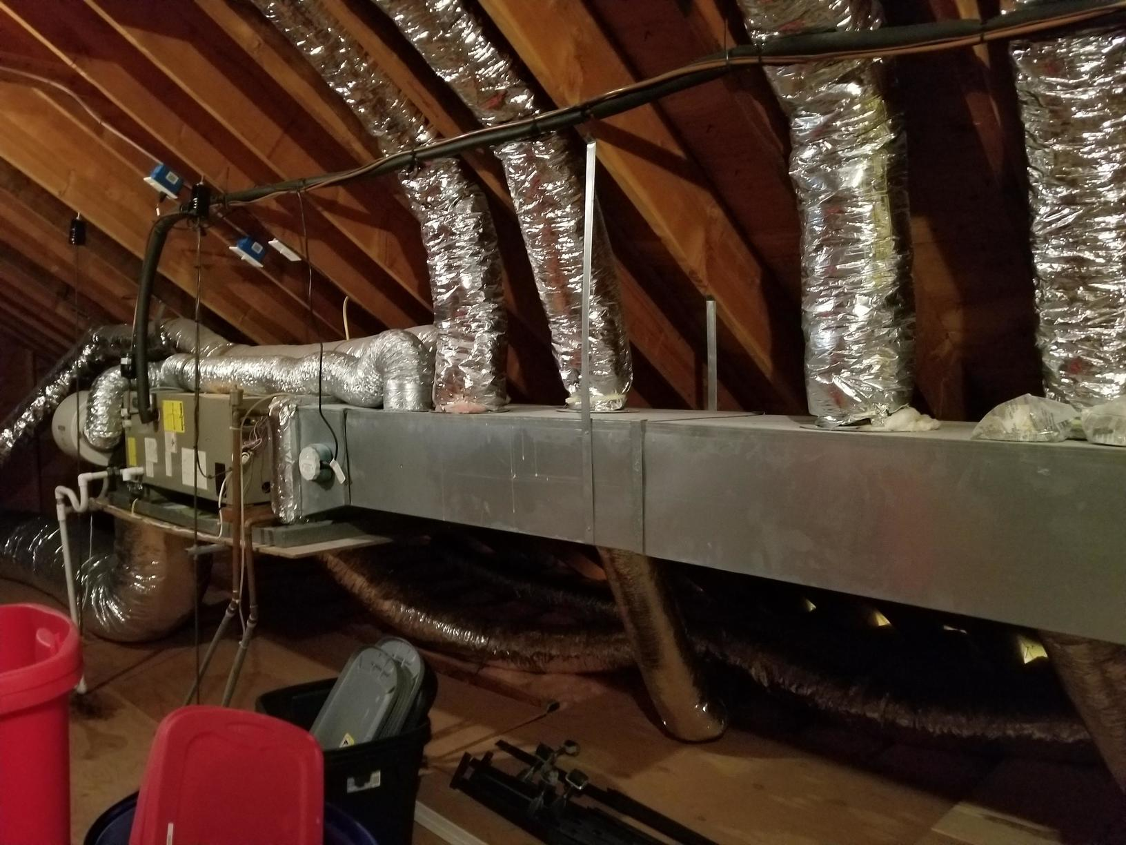 Insulated Duct Wrap,Mattituck NY - Before Photo