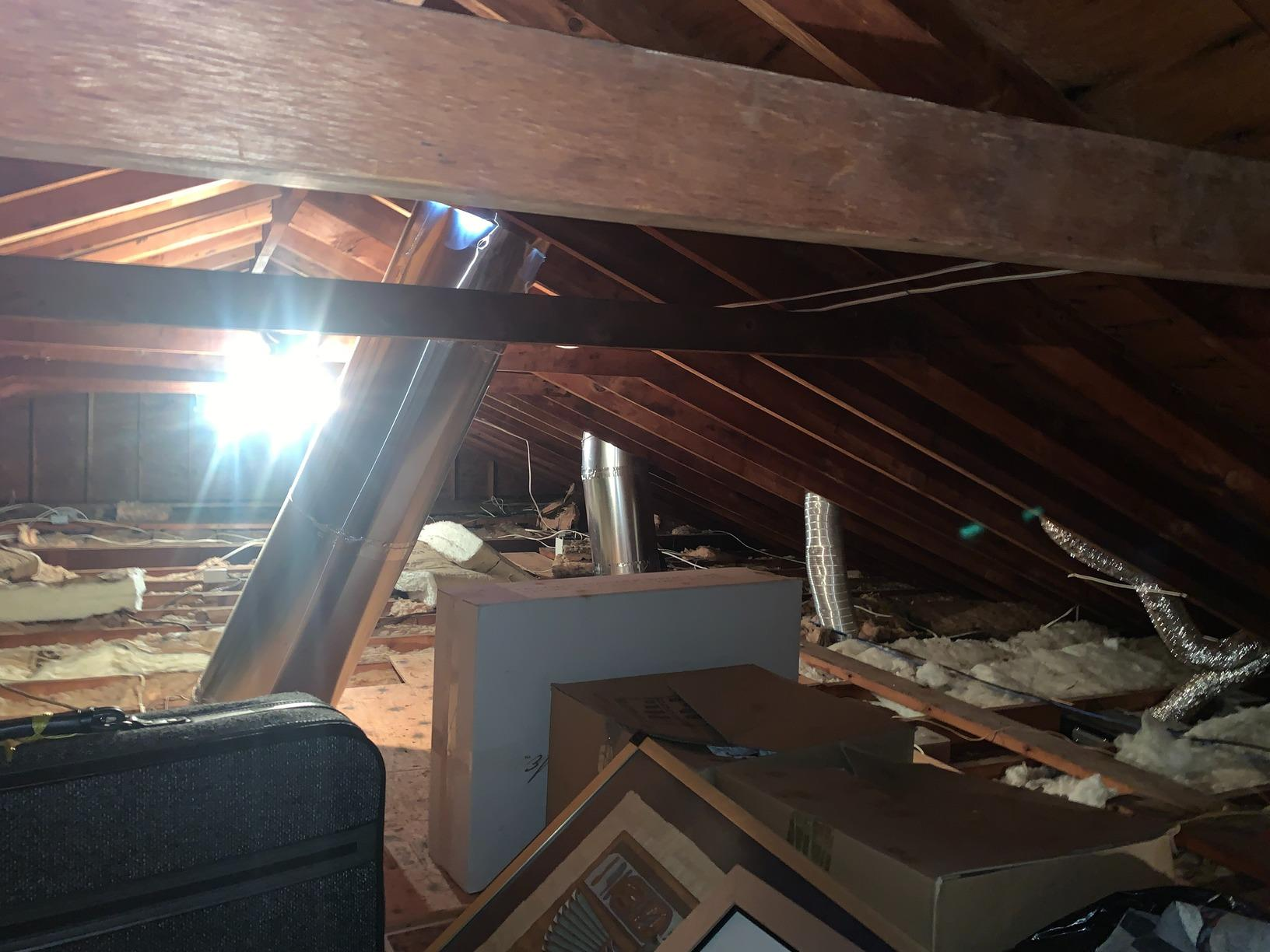 Cellulose Insulation & Storage Platform- Great Neck, NY - Before Photo