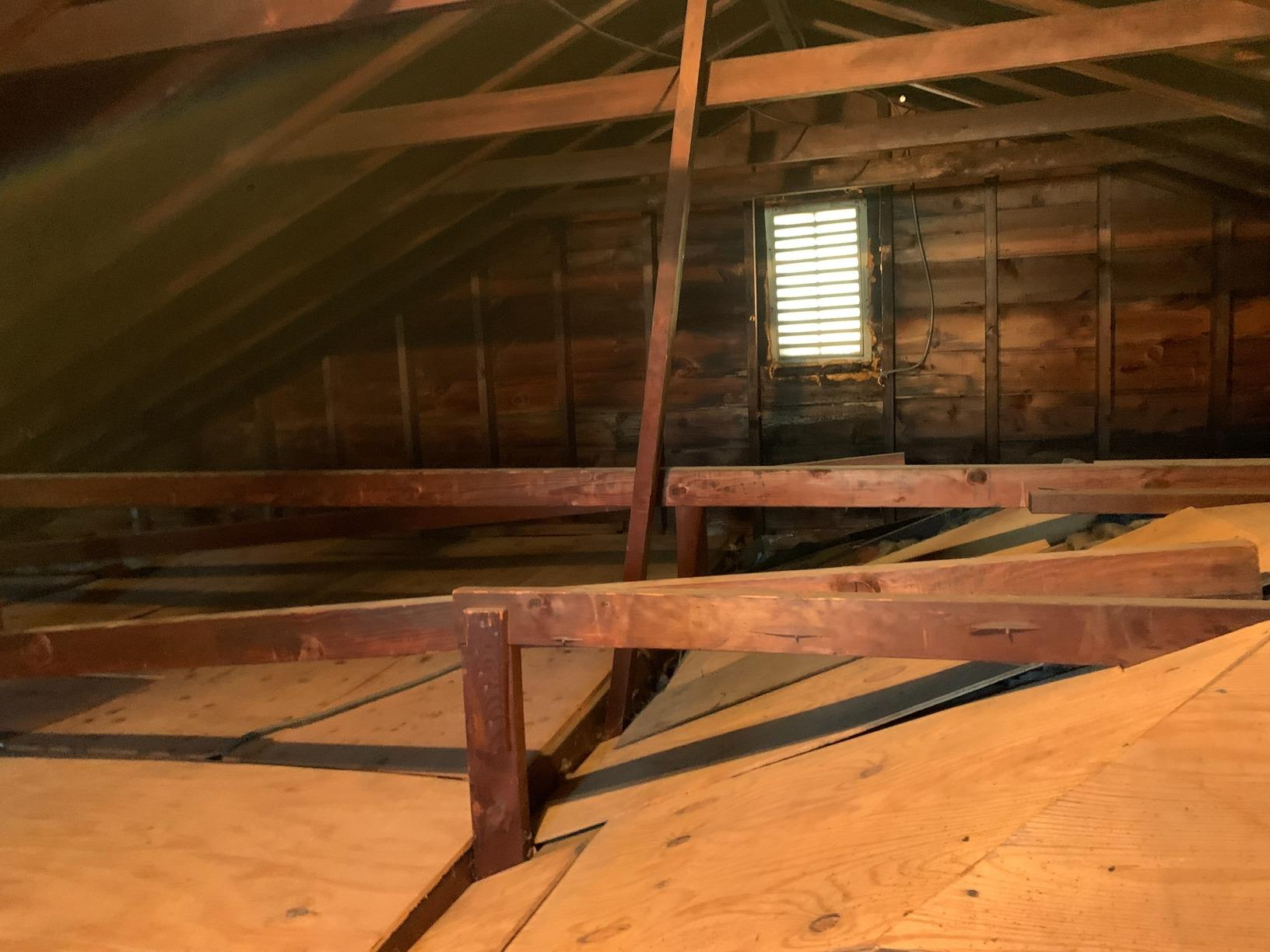 Blown in Cellulose Insulation in Attic - Flushing, NY - Before Photo