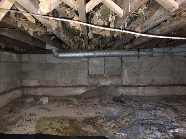 Spray Foam in Crawl Space - Lloyd Harbor, NY