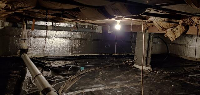 SilverGlo & Vapor Barrier In Crawl Space  - Lindenhurst NY