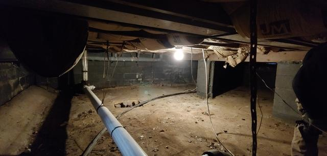 SilverGlo & Vapor Barrier In Crawl Space  - Lindenhurst NY