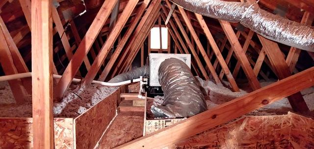 Mechanical Catwalk/ Blown in Cellulose Insulation - Ridge, NY