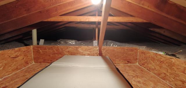 Blown in Cellulose Insulation, Attic tent, Storage area - Ridge, NY
