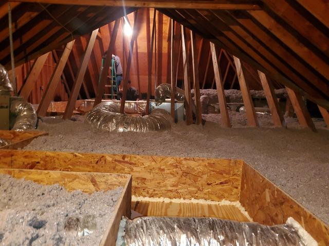 Blown in Cellulose Insulation & Mechanical Catwalk- Mt Sinai, NY