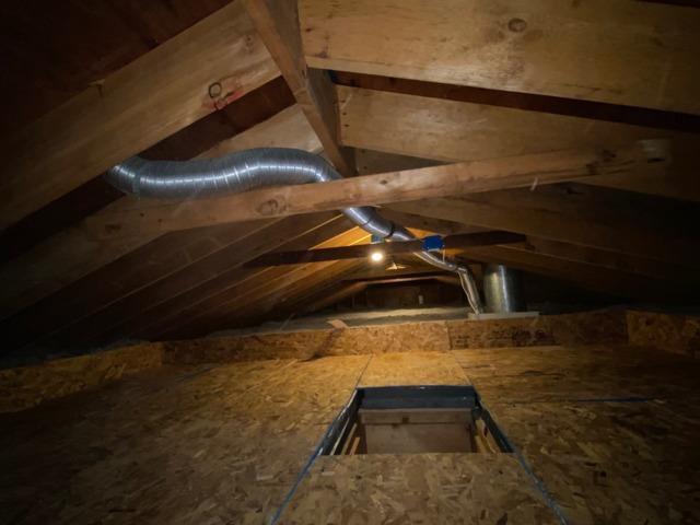 Cellulose Attic Insulation and Storage Platform in Oceanside, NY