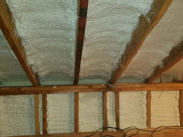 Spray Foam on Kneewalls and Gable Walls- Sound Beach, NY