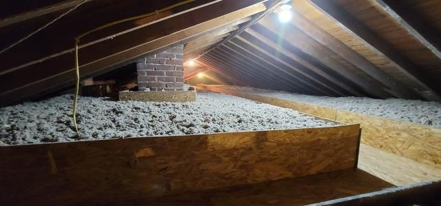 Cellulose Attic Insulation & Mechanical Cat Walk - East Patchogue, NY