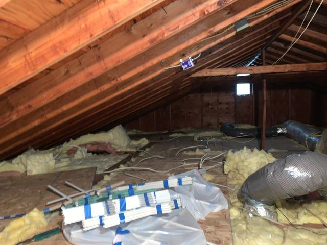 Cellulose Attic Insulation & Mechanical Cat Walk - East Northport, NY