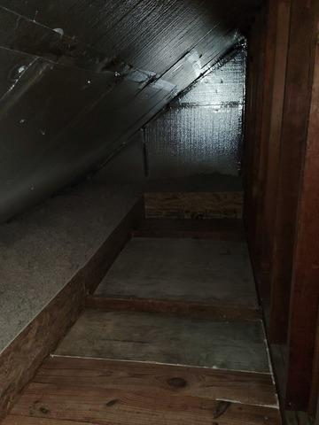 Knee Wall Insulation- Elmont, NY - After Photo
