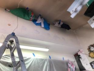 Dense Packed Insulation in Garage Ceiling- North Bellmore, NY