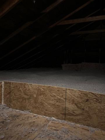 Cellulose Insulation in Attic- Mastic, NY
