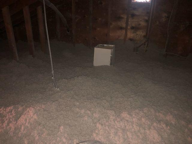 Blown-in Cellulose Insulation in Attic- Great River, NY