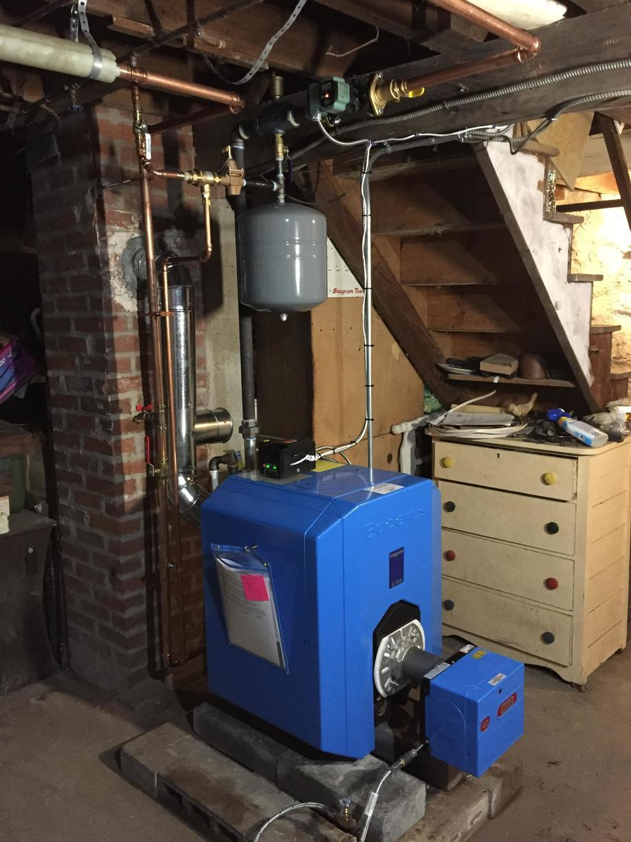 Oil Boiler Replacement in Bantam CT - After Photo