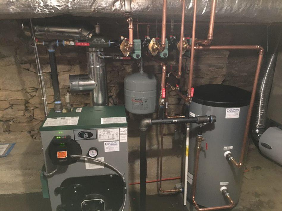 Oil Boiler replacement in Woodbury, CT - After Photo