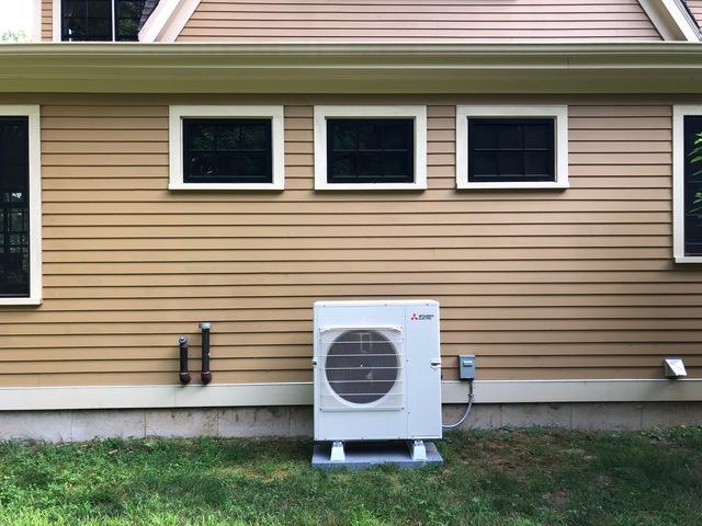 Heat pump installation in Bethlehem, CT - After Photo