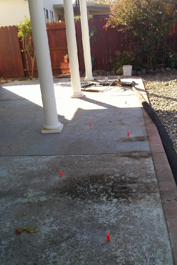 Cracking Back Patio In Shingle Springs, CA - After Photo