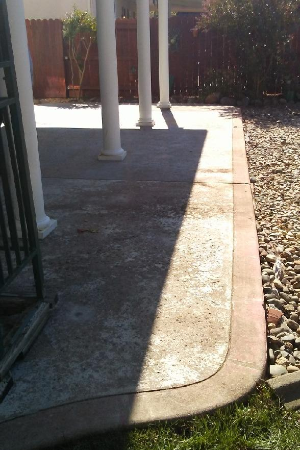 Cracking Back Patio In Shingle Springs, CA - Before Photo